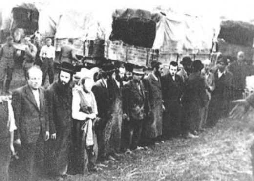 Jews awaiting transports to almost certain death