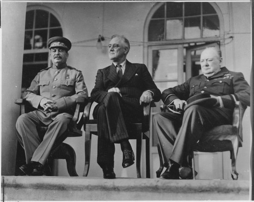 The Allied leaders at the Tehran Conference