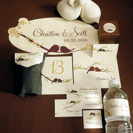 Coordinates perfectly with the Love Birds Accessories Shown Above!