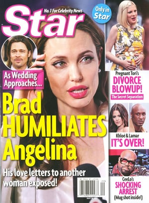 Gossip tabloids often feature stories about Brad and Angelina's acrimonious relationship.