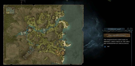 Risen 2 Jim's Treasure Map - it is also a map of the sword coast and allows fast travel