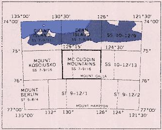 The segment of Marie Byrd Land from which the detailed photos were taken.