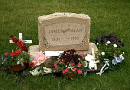 James Deans Grave, In His Home Town Of Fairmount, Indiana