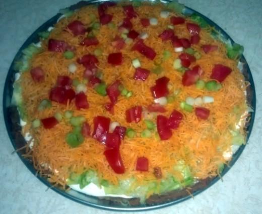 Easy taco salad dip recipe great party appetizer for Great party appetizer recipes