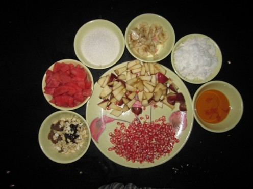 Chopped Fruits and dry fruits