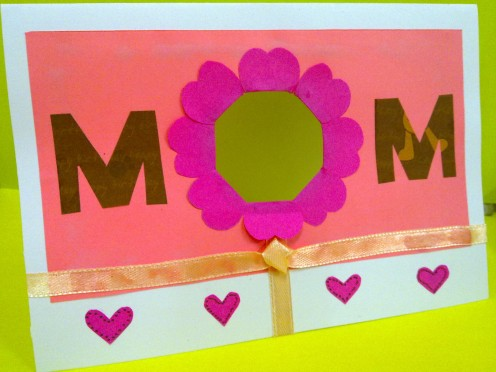 """MOM"" Mother's Day card"