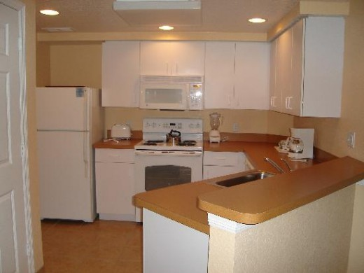 The condos usually have full kitchens.