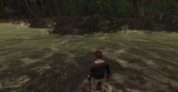 Risen 2 Shipment for Crow Quest - from the village, turn left, find the stream and look for the native gatherers on the other side