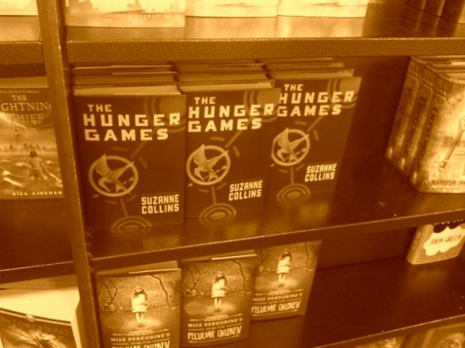 Book Store display of The Hunger Games