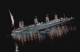 Titanic sank in two hours, forty minutes.