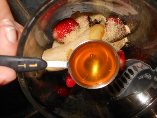 Add one tablespoon of honey.