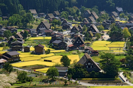 Gassho-Zukuri Houses in Shirakawa Village.