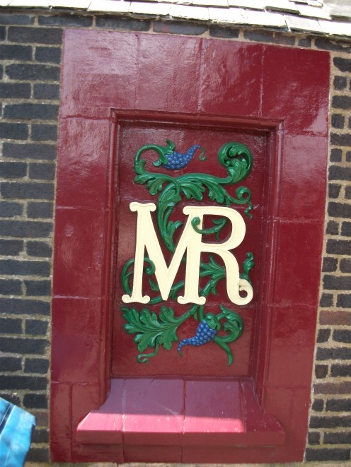 The plaque of the Midland Railway- now long gone