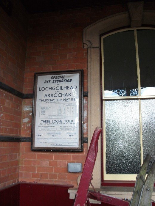 The station and museum had a number of original notices
