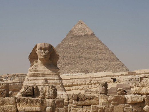 Sphinx and Pyramid at Giza