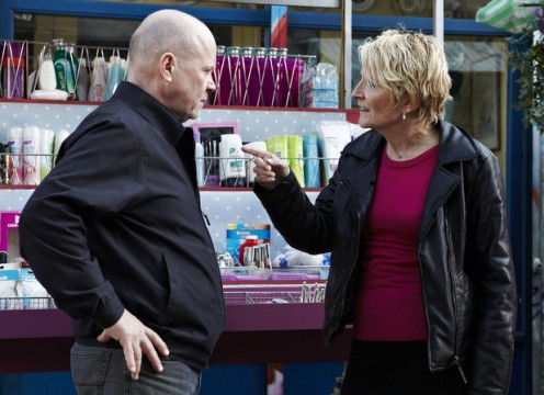 Shirley see's Phil drunk and demands to talk to him in private