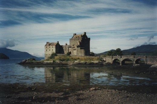 "Eilean Donan Castle. Film location for movie ""Highlander."""