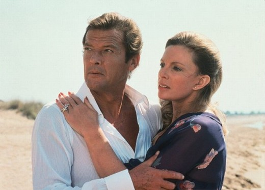 Roger Moore with Cassandra Harris