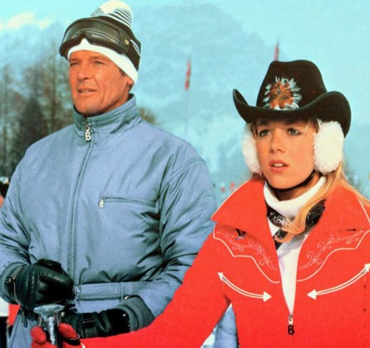 Roger Moore with Lynn-Holly Johnson