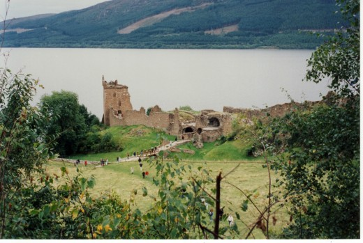 Castle Urqhuart on the banks of Loch Ness.