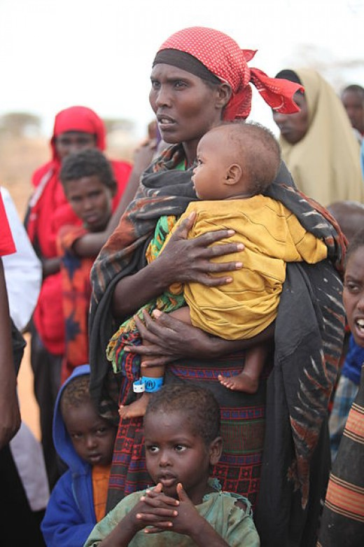 We are used to scenes such as this in East Africa. People attempting to escape famine and conflict. In a world without oil, such scenes will become more and more common across the world.
