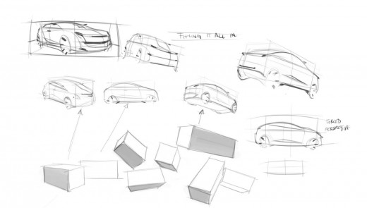 Quick car sketches samples