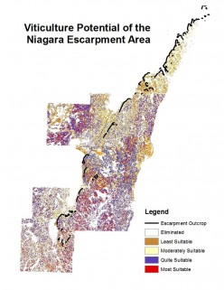 Analysis of Viticultural Potential along the Niagara Escarpment in Wisconsin