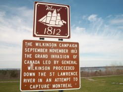 Historical sign re. Wilkinson Campaign, 1813, Chippewa Bay