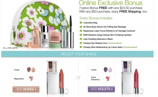 I am keeping my eyes open for any Clinique Gift Bonus Time offers for October 2012. I will post here when I find them.