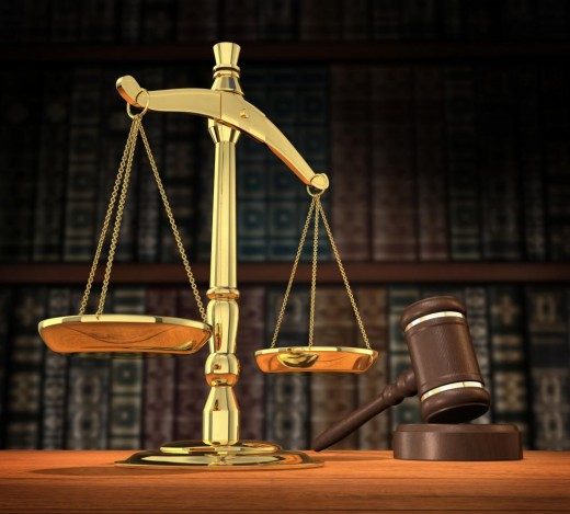 Scale and Gavel - Symbols of State Law
