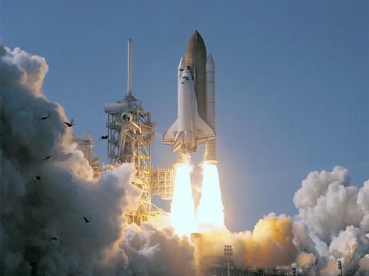 A Space Shuttle Lift Off