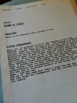 Front Page of a Script