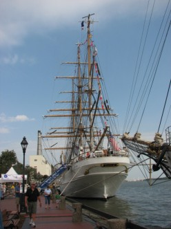 Tall Ships Sail To and From Savannah