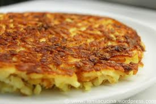 ... bacon and scallions crispy potato onion and mushroom rosti rosti