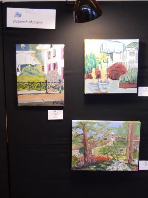 Deborah McClure's art work for sale at Children's Beach House 5/12/12.