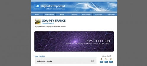 DI.FM's GOA/PSY Channel