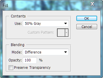 Fill with 50% Gray