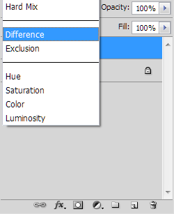 Change Blend Mode To Difference