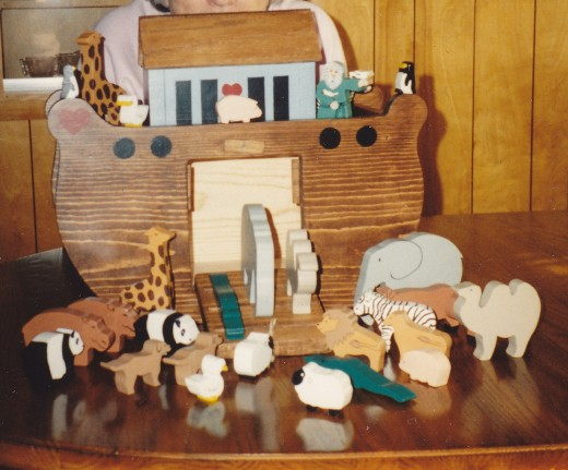 Noah's Ark with Noah and Animals