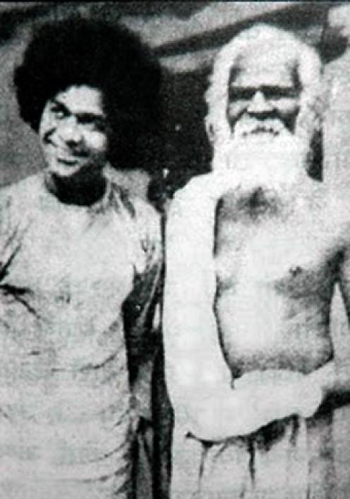 Swami with Swami Purushottamananda after the Jyotir Padmanabha Darshan