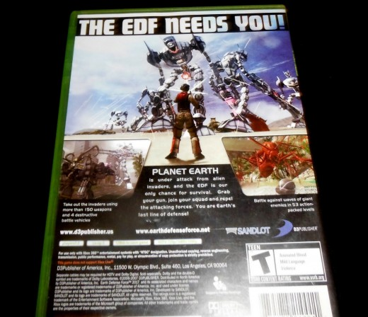The backside of my EDF 2017 case. Note the giant robots... that is how it looks during game play.
