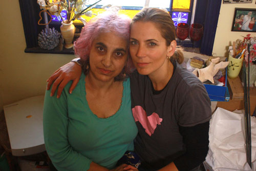 Jasmine Harman with her mum Vasoulla Savvidou at Vasoulla's home