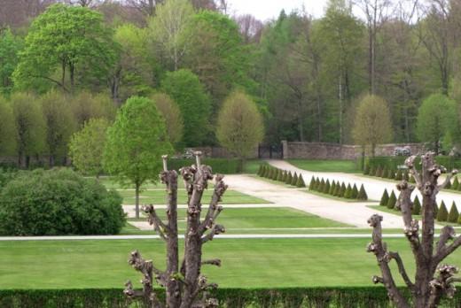 A very manicured castle garden, Germany.