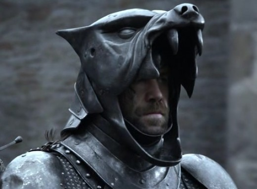 Sandor Clegane in the Hound helmet