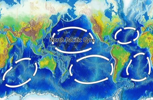 Earth's five gyres