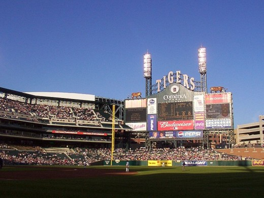 Comerica Park, home of the Detroit Tigers baseball team