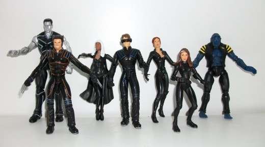 X-Men and X2 movie figures
