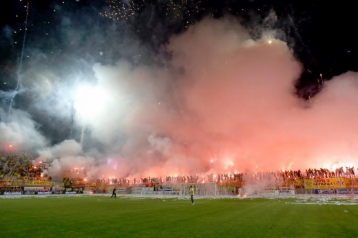 Greek soccer fans