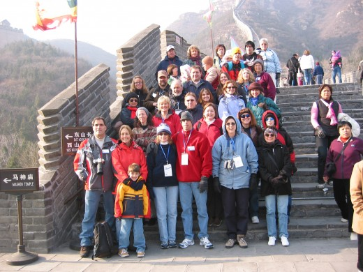 Tour group at Great Wall