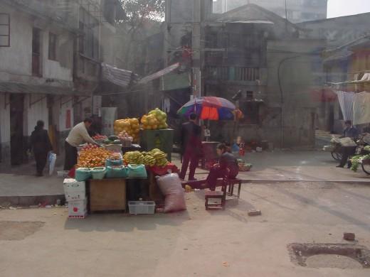 Chinese street vendor.